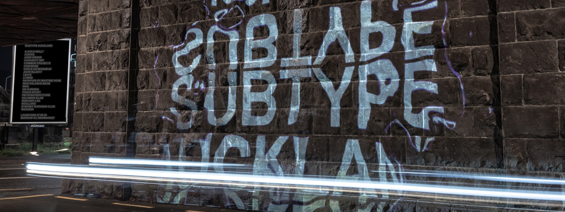 Subtype Auckland launch event wall projection