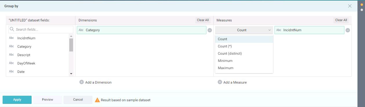 Click save to save the virtual dataset