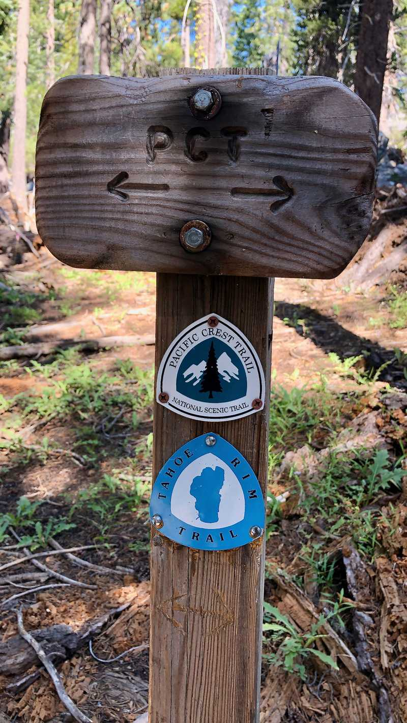 PCT and TRT markers with a direction sign