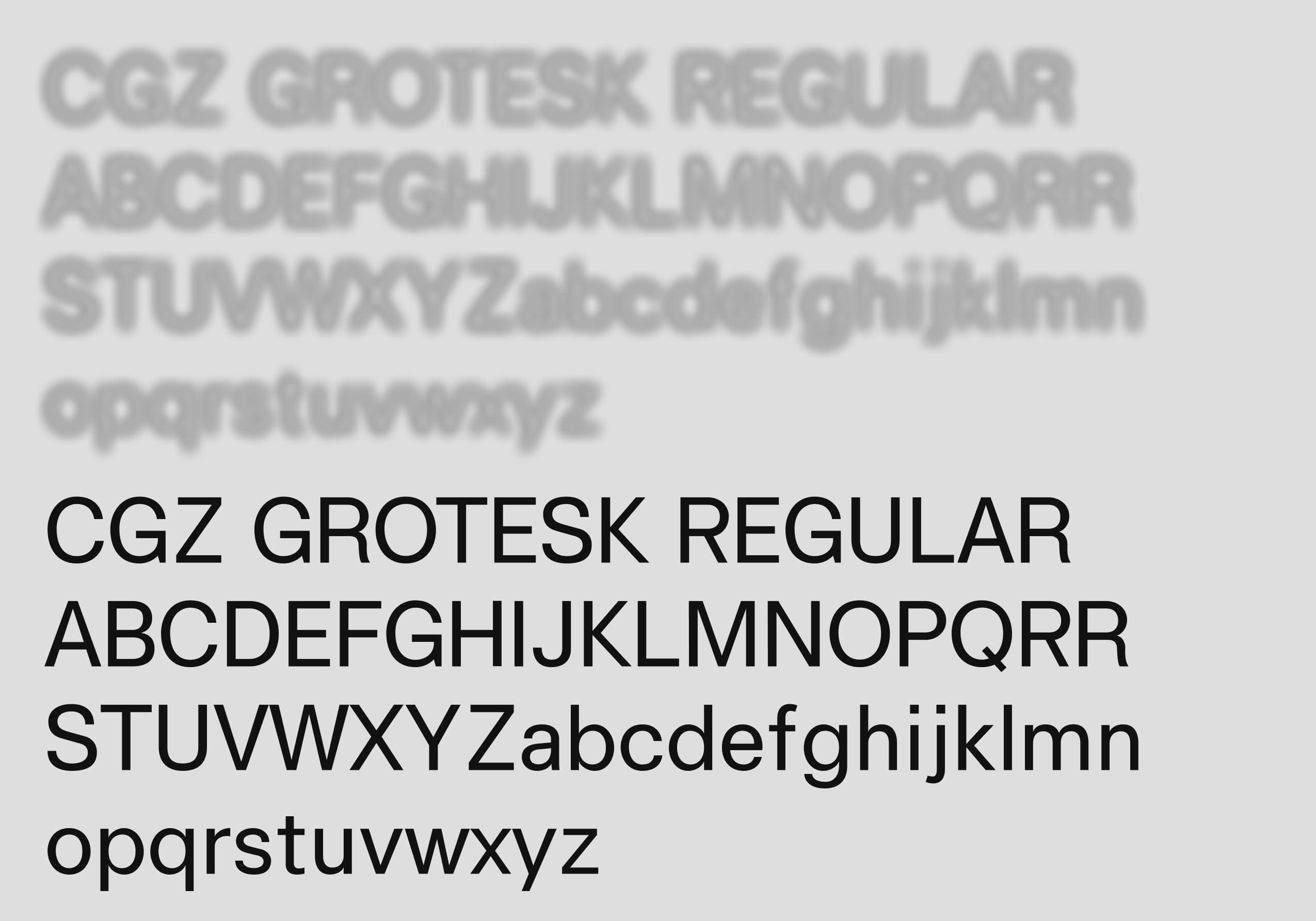 Connecting in the Grey Zone custom typeface, Personal Grotesk