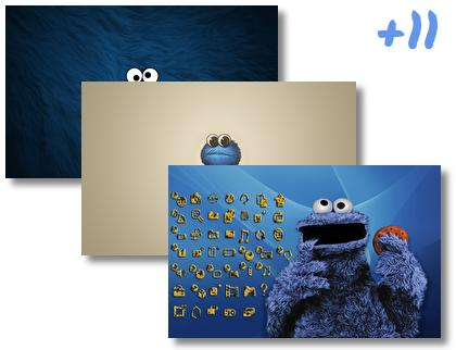 Cookie Monster theme pack