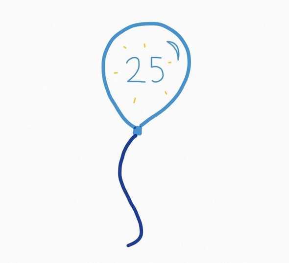 25 balloon