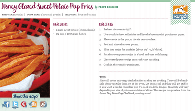 Holiday Recipe: Sweet Potato Pup Fries