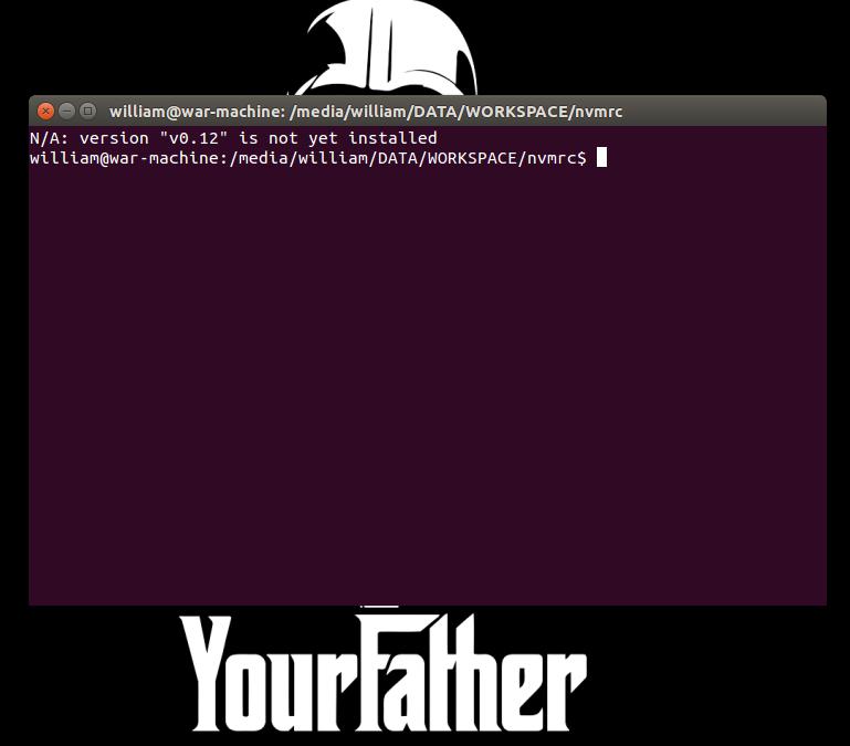 Tentativa de configurar a versão automaticamente