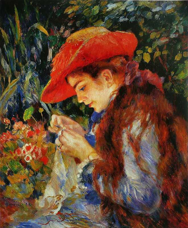 'Marie-Thérèse Durand-Ruel', by Pierre August Renoir in 1882