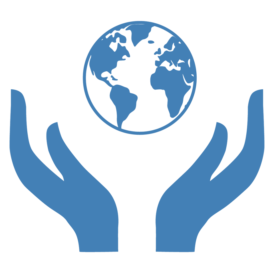 two hands holding the world up as a way to promote social good