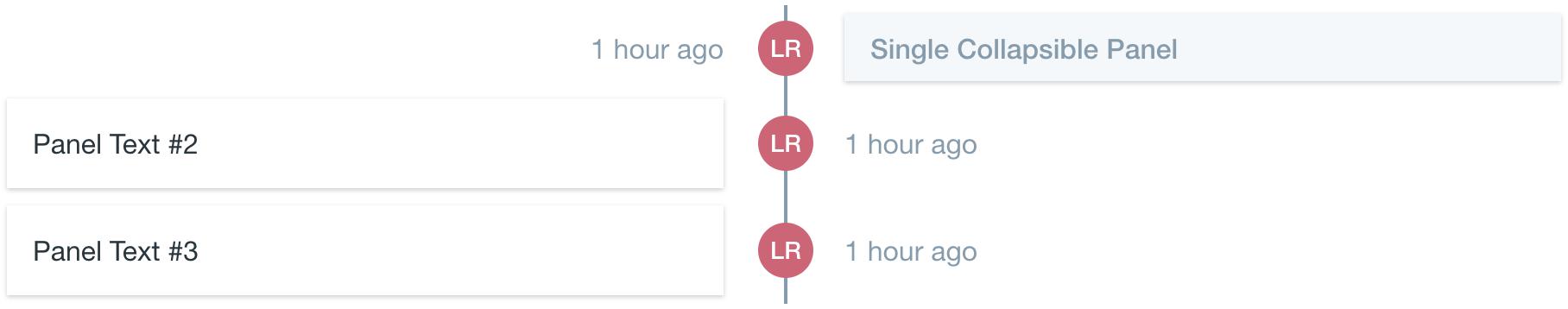 timeline center aligned