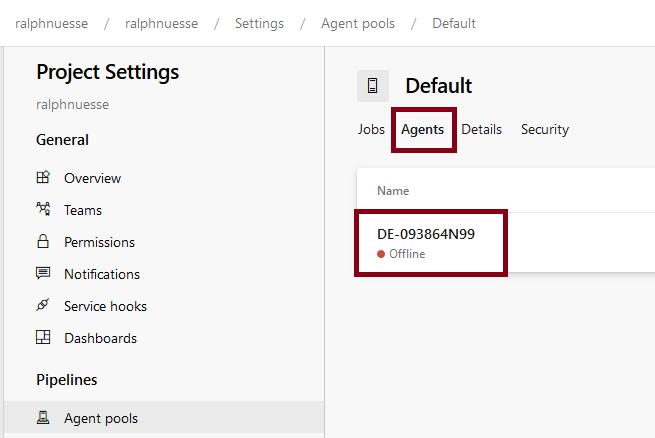 Azure DevOps Agent Statuts