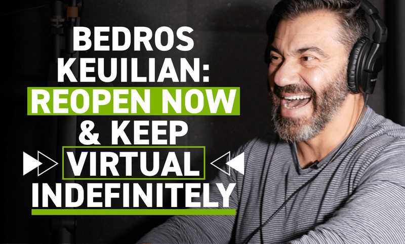 Bedros Keuilian Bluntly Explains Why Fitness Studios Should Reopen Now And Retain Their Virtual Options Indefinitely