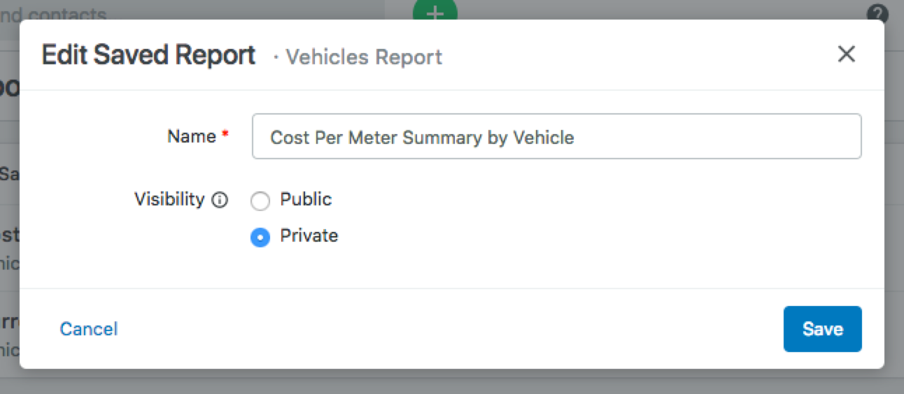 save reports
