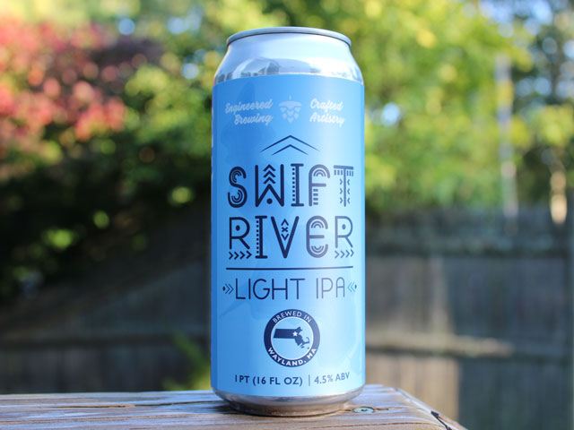 Swift River, an IPA brewed by Cochituate Brewing