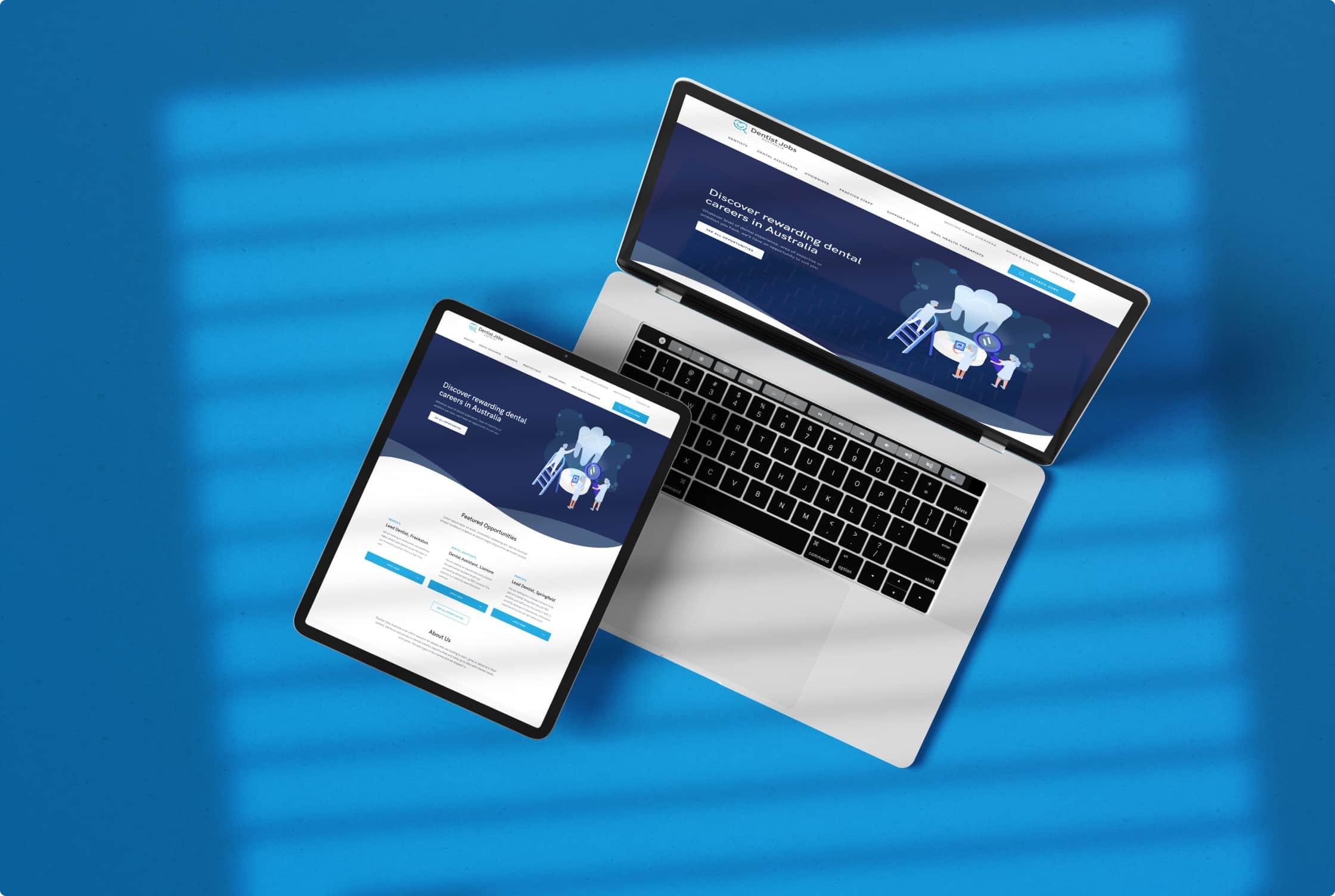 A preview of Dentist Jobs Australia website