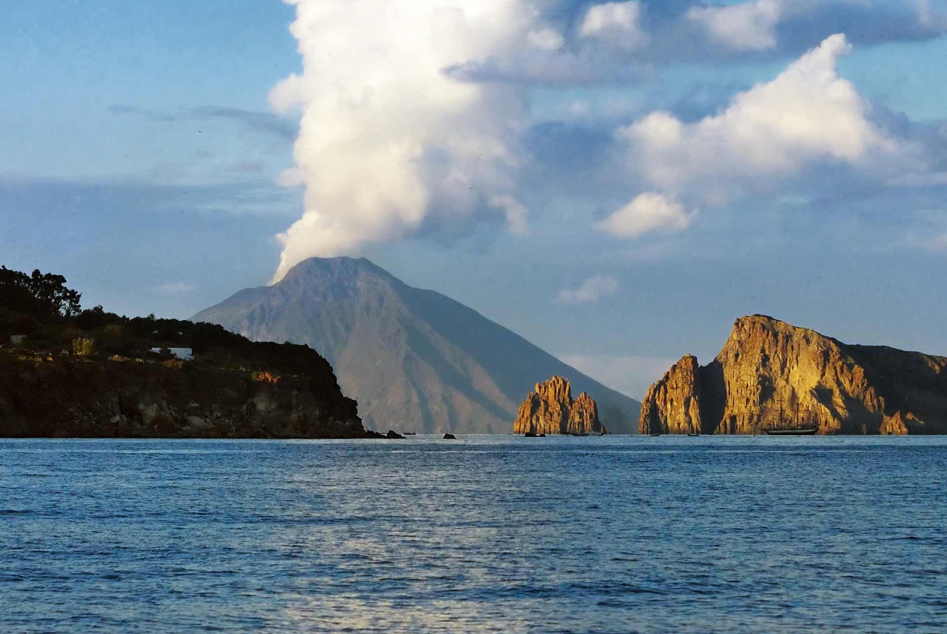 Stromboli Sunrise Volcano