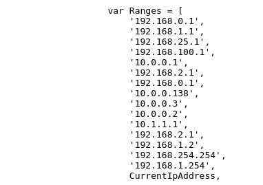 Range dos IPs alvos