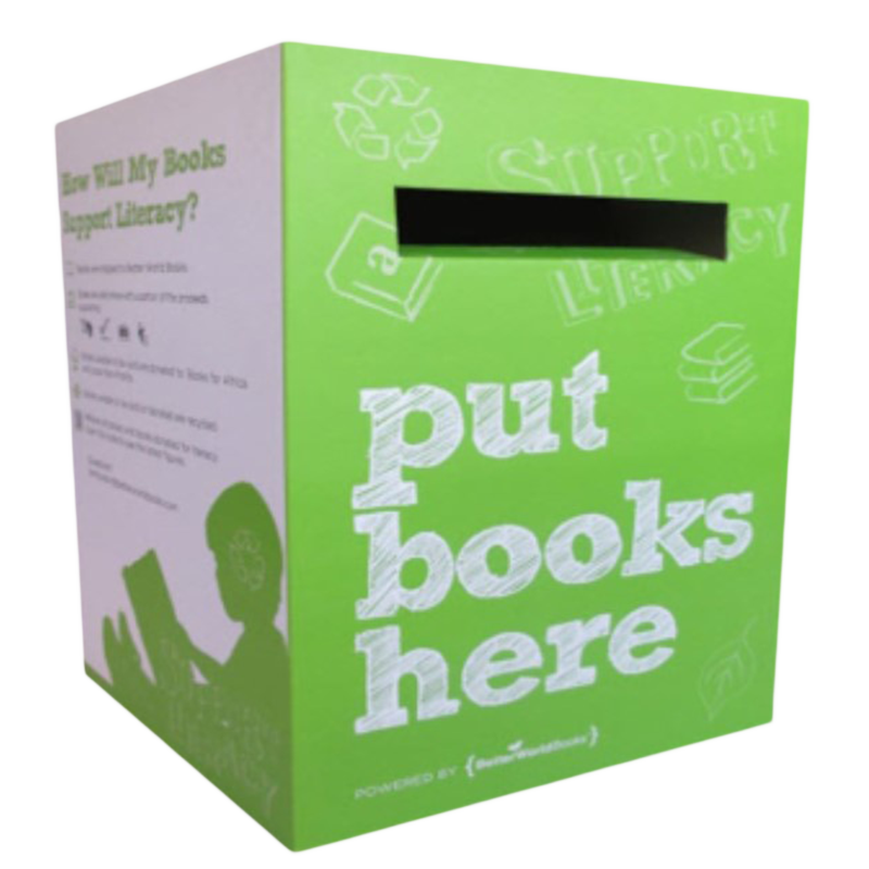 green Better World Books donation box