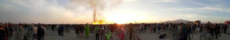 The catacombs, 'Pyramid' Burning and Sunrise