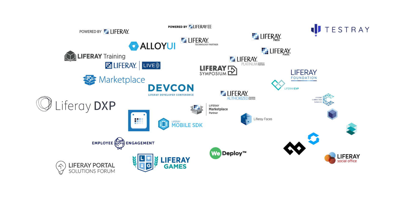 the huge variety of Liferay logos