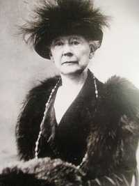 A photograph of Mary Cassatt (1844-1926) in 1914
