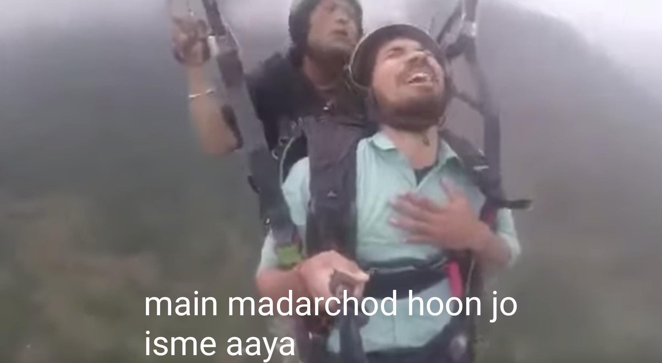 Paragliding Video Main Madarchod Hoon Jo Isme Aaya