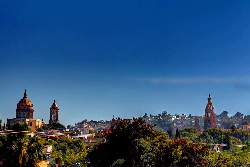 From the Terrazza you  can peer around the corner and see the Parroquia and San Miguel skyline.