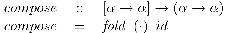 Compose as a fold