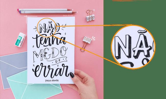 Lettering em detalhe