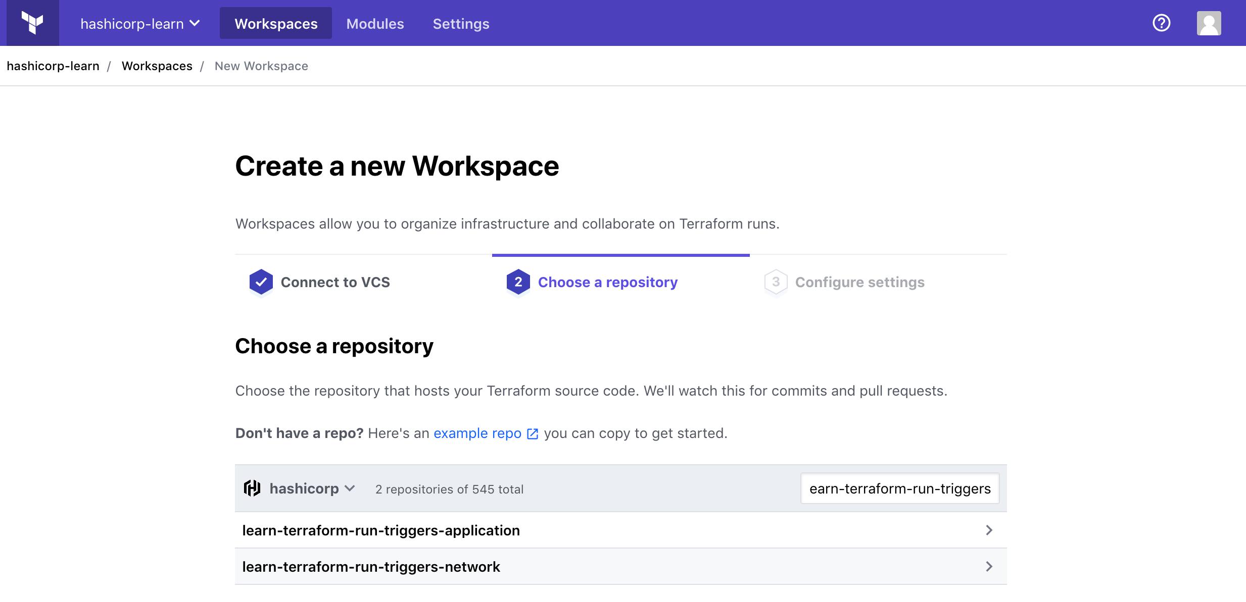 Choose repository interface