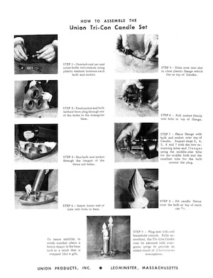Union Products Tri-Con Candle Set #2783 Instruction Manual.pdf preview