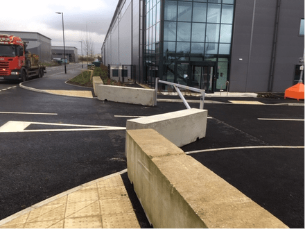 3m Concrete Blocks Protecting Entrance – Bicester