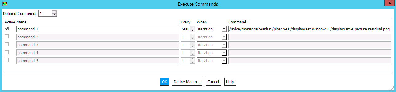 Fluent Execute Commands