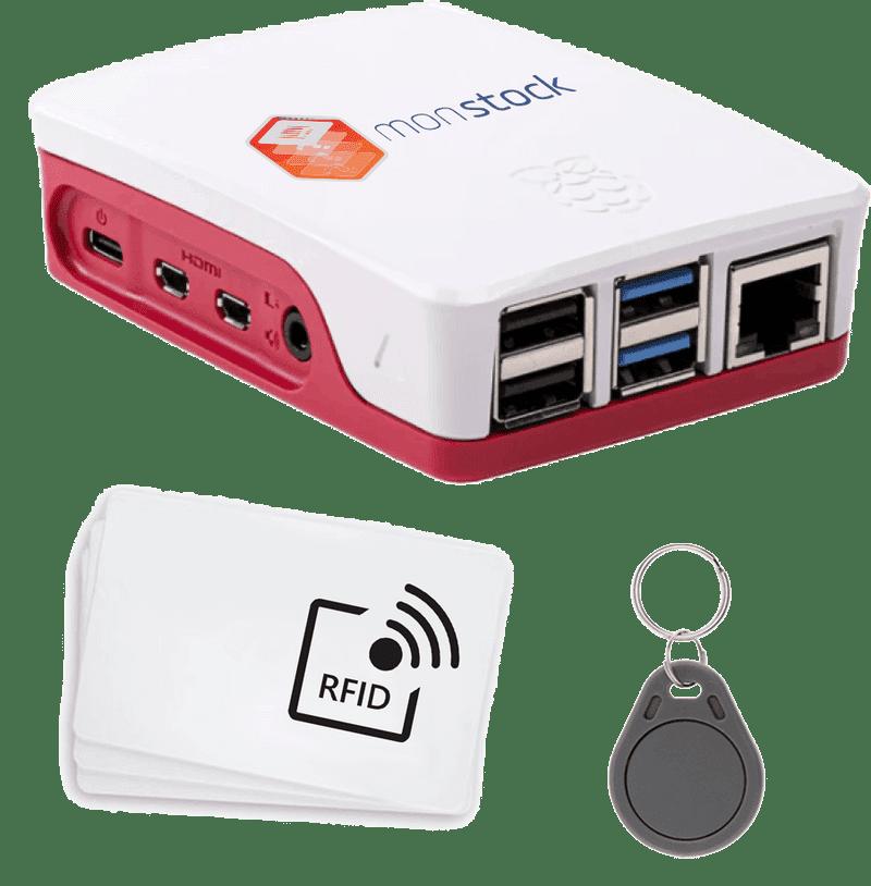 Rasperry pi 4 + lector de RFID