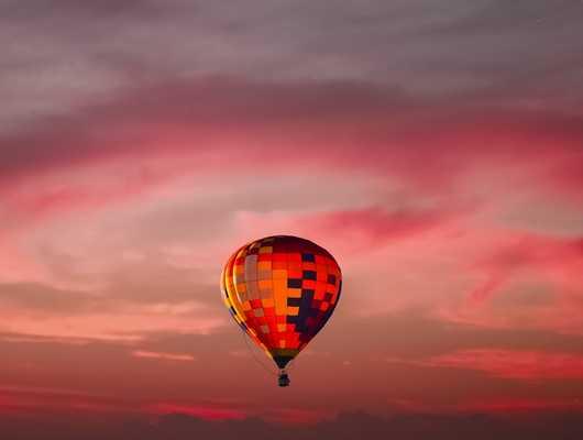 hot air balloon in a beautiful sky