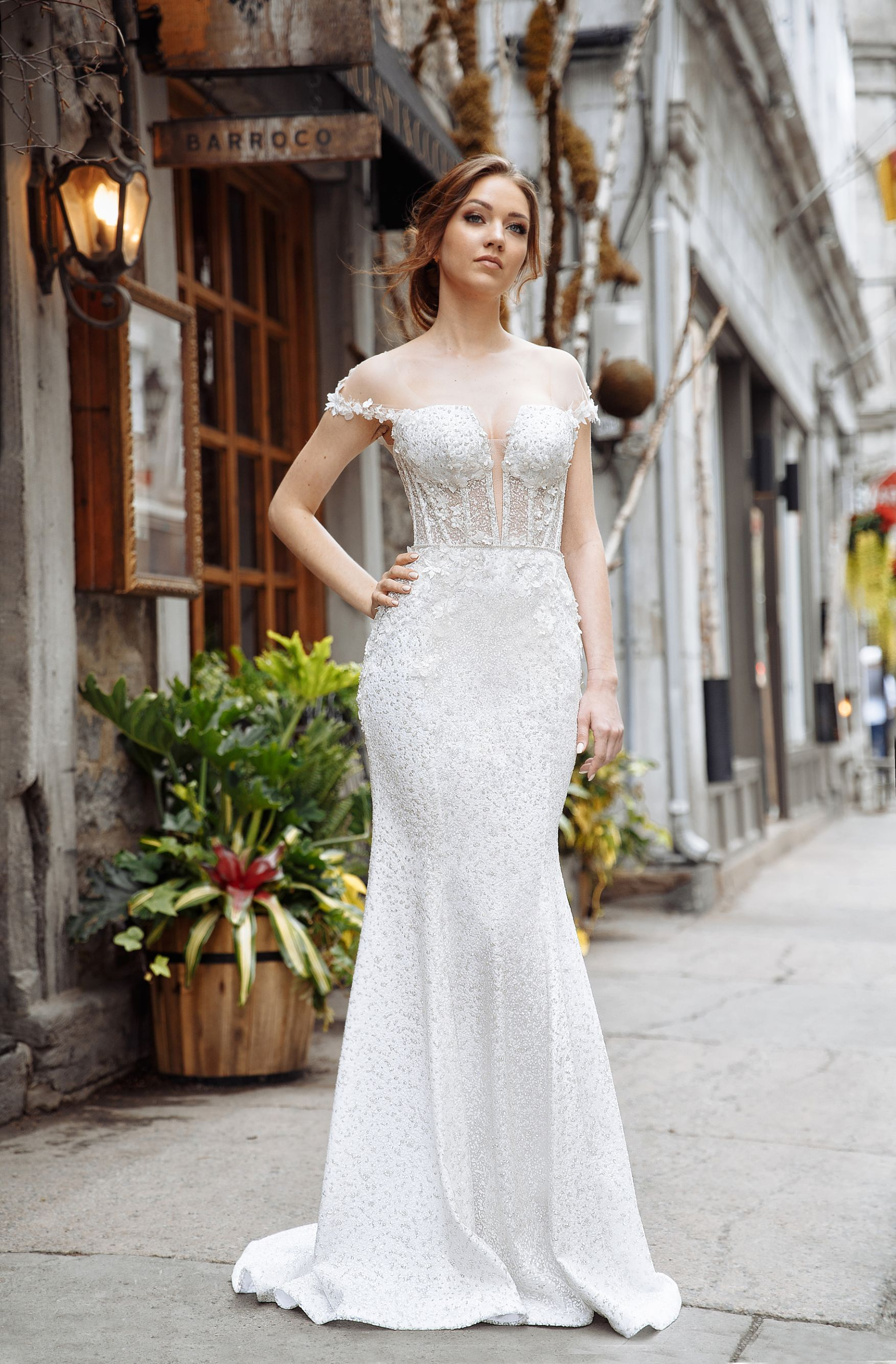 lilia haute couture wedding gowns evening gowns montreal sparkling wedding dress