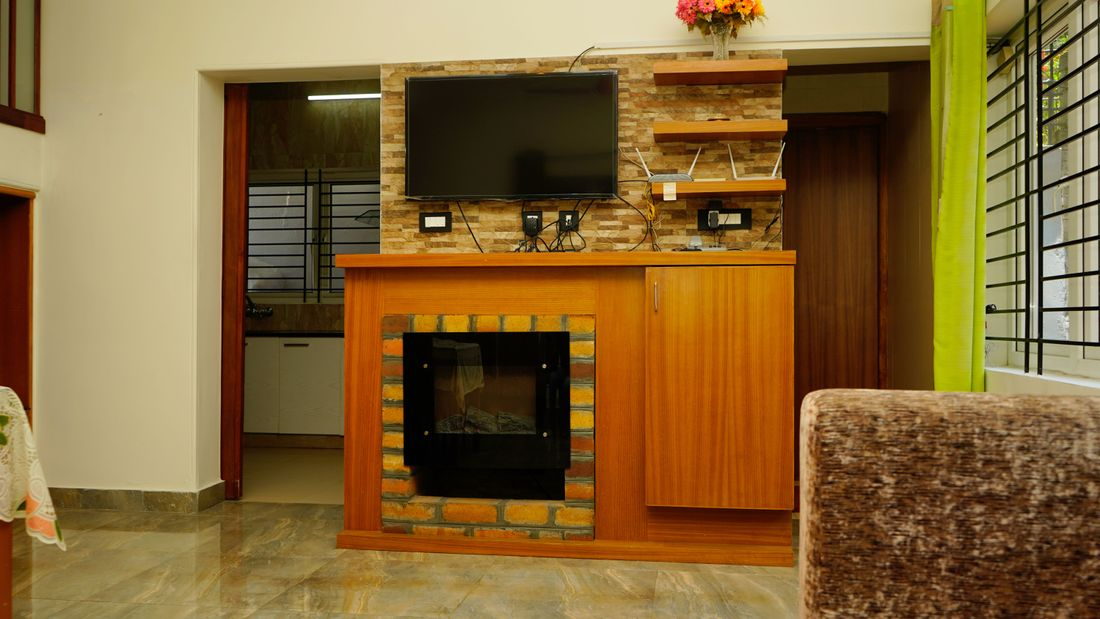 TV Cabinet and Fireplace