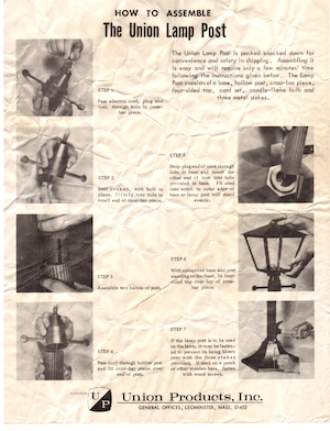 Union Products The Union Lamp Post Instruction Manual.pdf preview