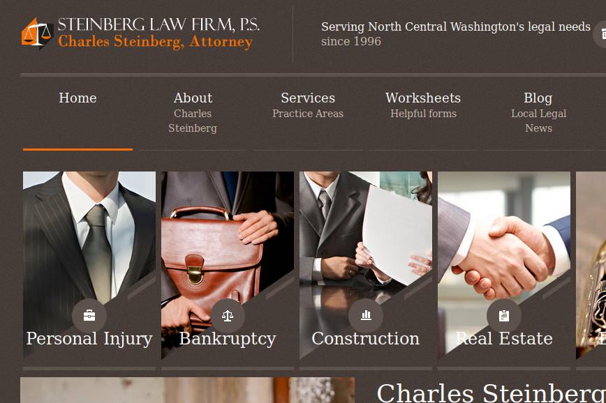 cropped screenshot of Steinberg Law website