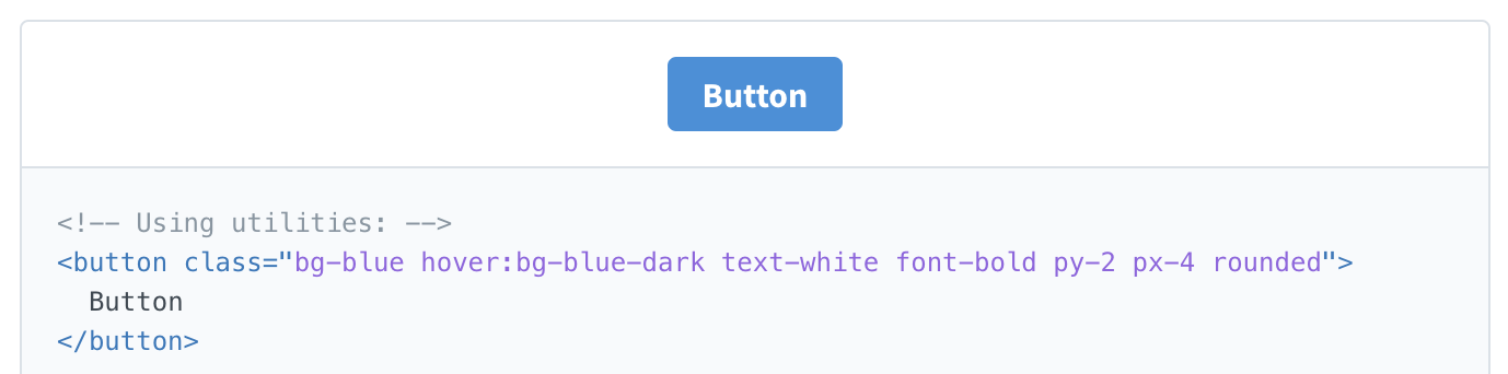 Styling a button with [tailwind](https://tailwindcss.com/docs/what-is-tailwind/#component-friendly)