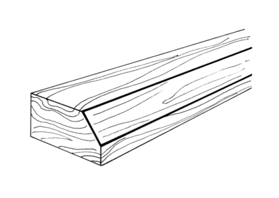 Wooden frame with a beveled edge.