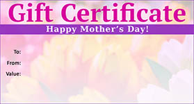Gift Certificate Mother's Day 03