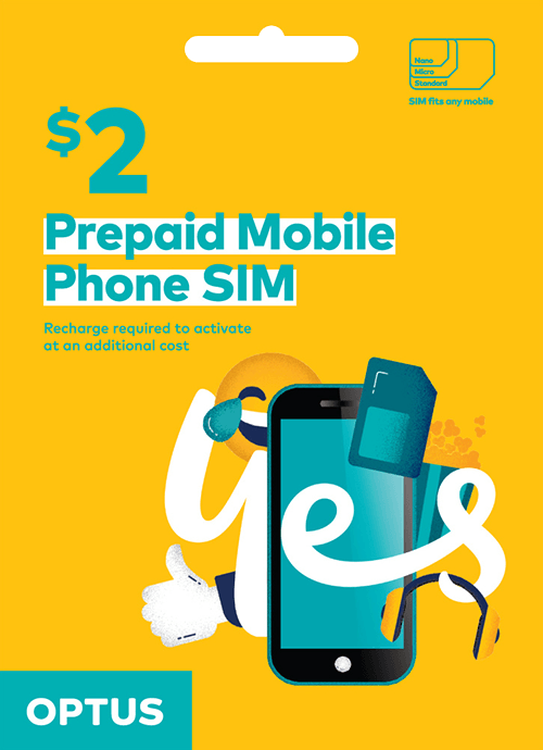 Optus Pre-Paid SIM Card