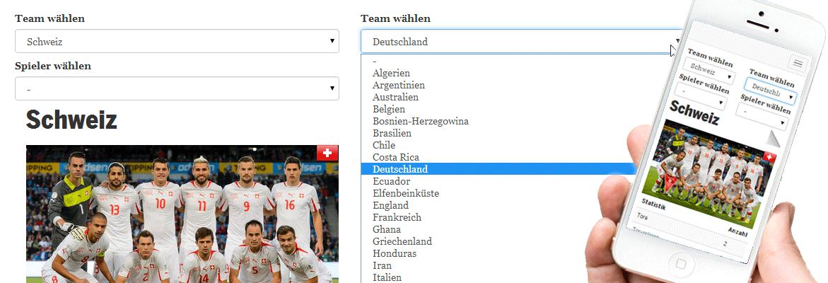 Team- und Spielervergleich