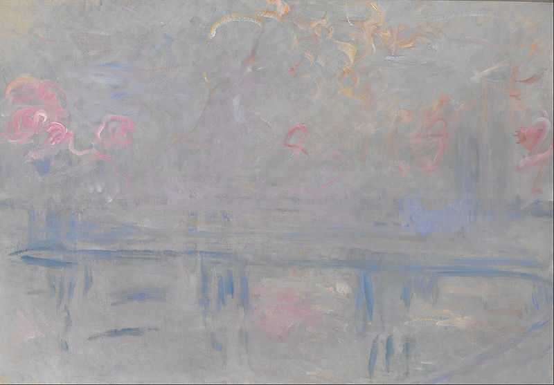From the Charing Cross Bridge series by Claude Monet, 1899-1901, Indianapolis Museum of Art