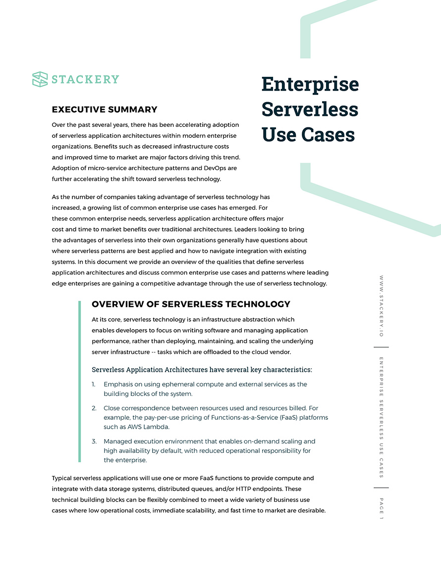 Enterprise Serverless Use Cases