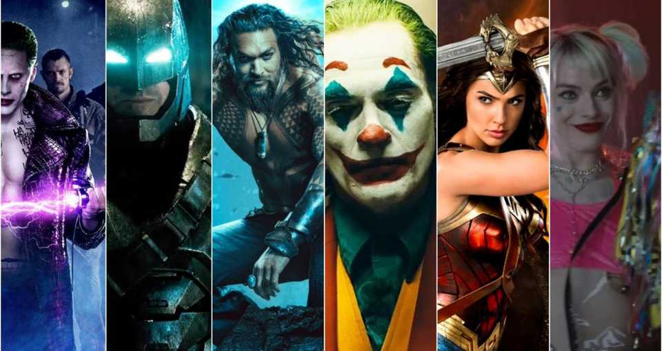 Suicide Squad, Batman, Aquaman, Joker, Wonder Woman and Harley Quinn