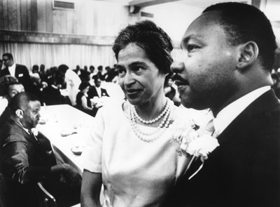 Rosa Parks with Dr. Martin Luther King Jr.