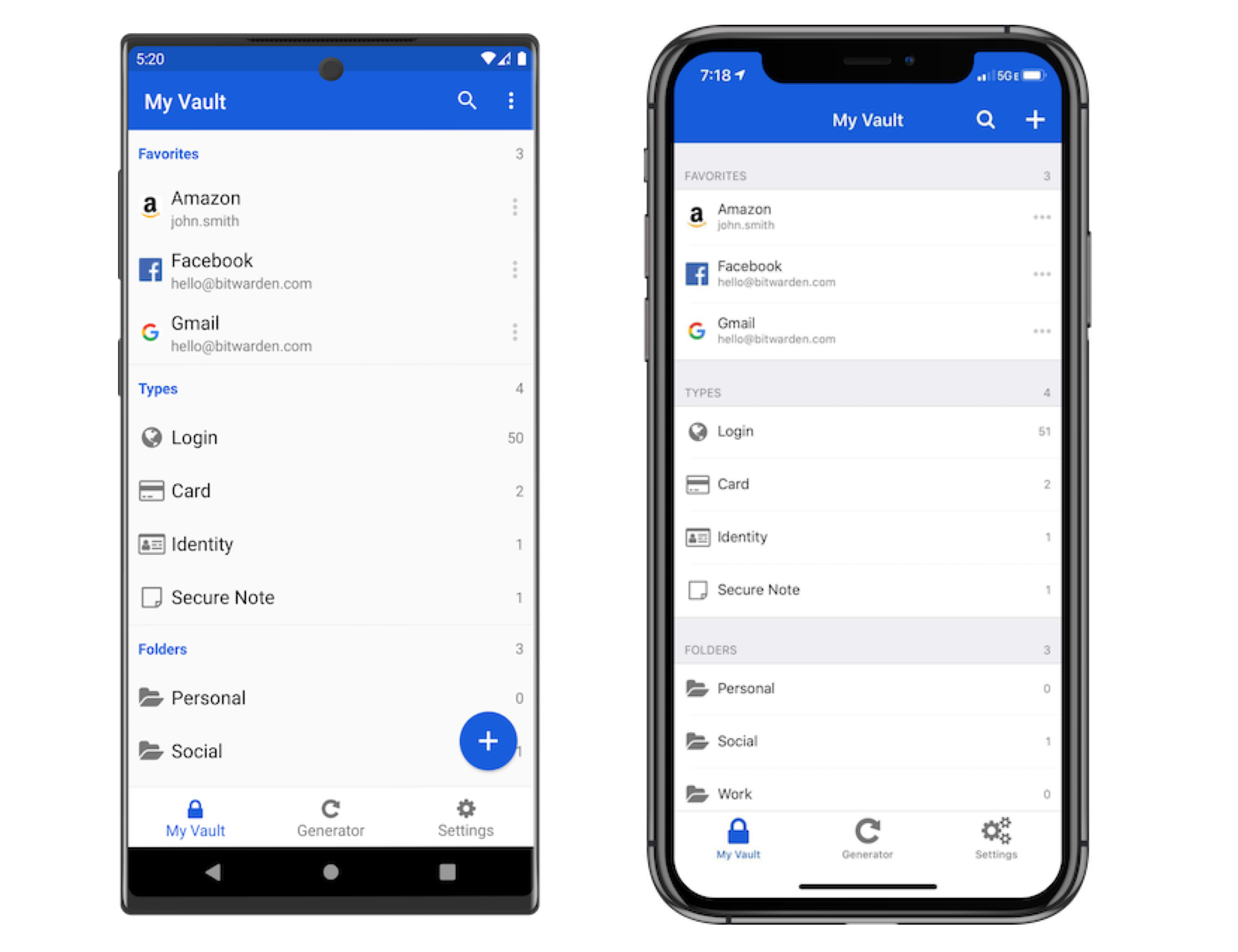 Bitwarden on Android and iOS