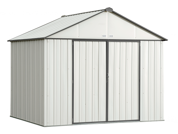 10x8 EZEE Shed in Cream with Charcoal Trim