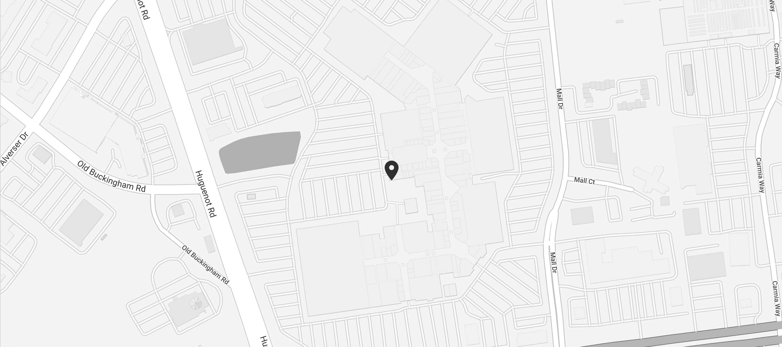A snippet of a map to Casa del Barco - Chesterfield Towne Center