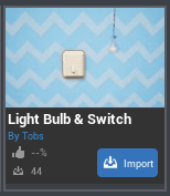 Light Switch And Bulb CC