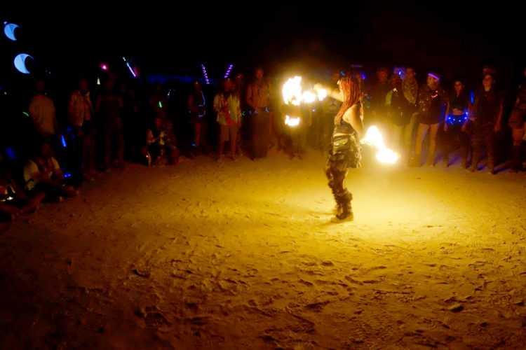 Burning Man Female Fire Dancer